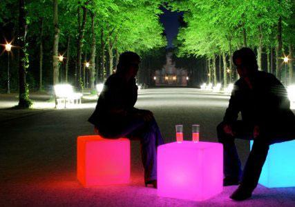 LED cube seat