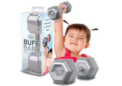 baby dumbelle rattle