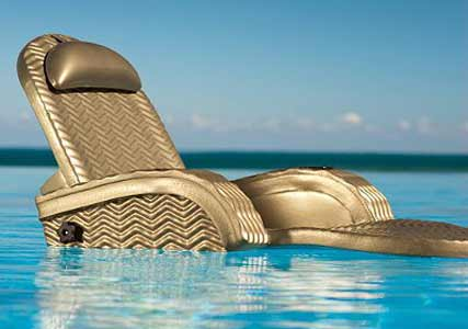 bronze pool chaise