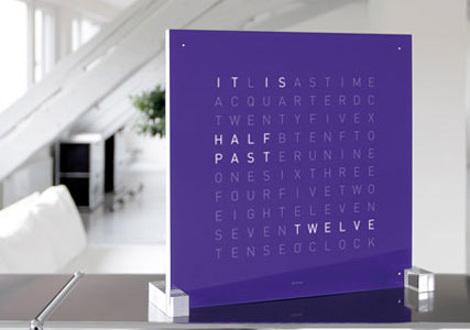 LED clock with words