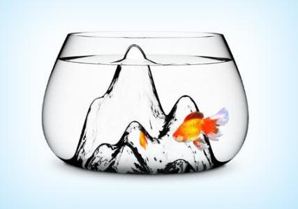 Aruliden Fishscape Fish Bowl: Pet Supplies