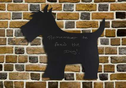 scotty dog chalkboard