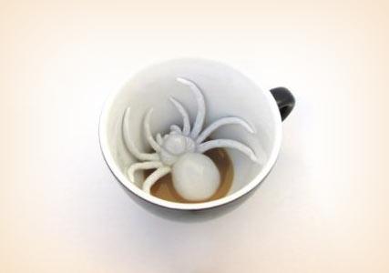 spider tea cup