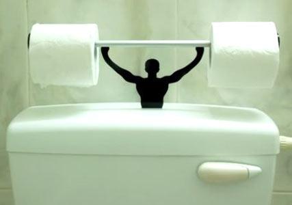 strongman toilet roll holder