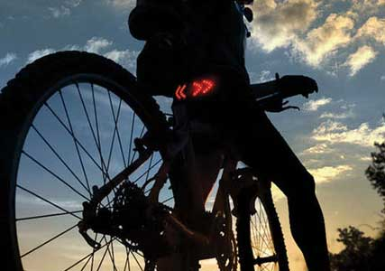 Bike indicators lights
