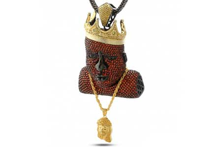 King Ice Crown And Chain Biggie Hip Hop Pendant