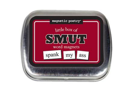 Smutty fridge magnet words