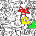 Colour In Burger Wallpaper for Kids