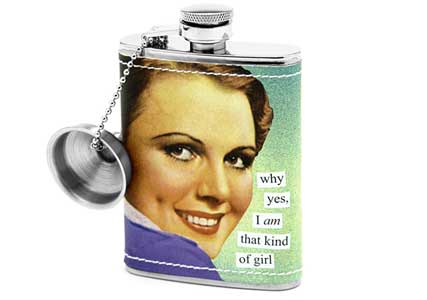 cool girls hipflask