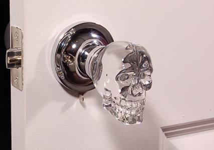 craystal skull doorknob