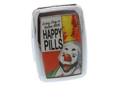 happy pills container