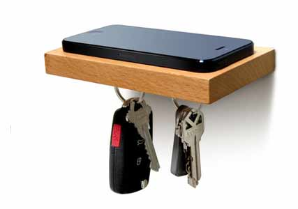phone and keys shelf