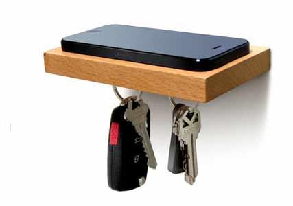 phone and keys shelf