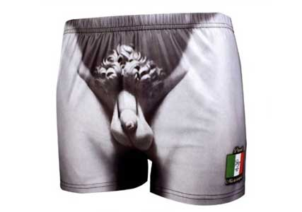 Michelangelo's David boxer shorts