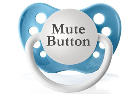 mute button dummy pacifier