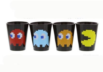 pacman shot glasses