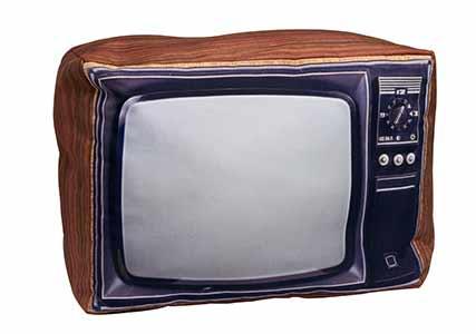 retro tv pillow