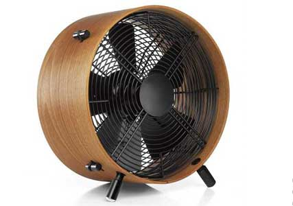 designer bamboo floor fan