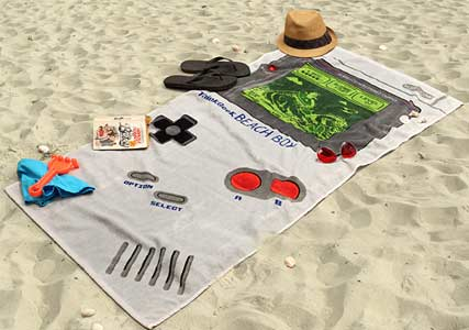 gameboy beach towel