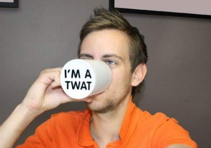 im a twat coffee mug