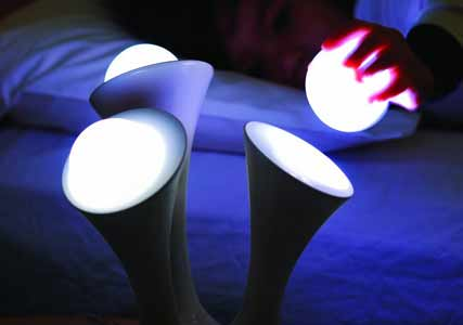 nightlight with portable balls