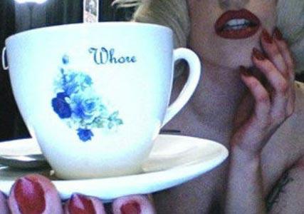 whore tea cup