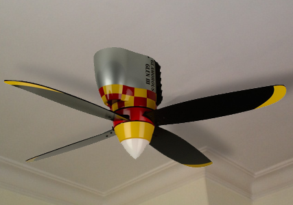 Airplane Propeller Ceiling Fan ⋆ Cool Gifts ⋆ Cool Kaboodle