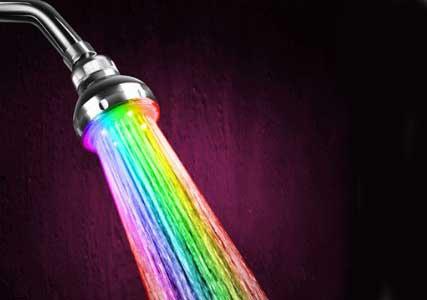 rainbow shower head