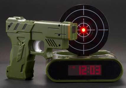 target practice alarm clock