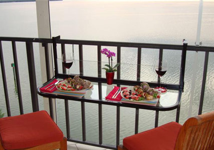 balcony railing table