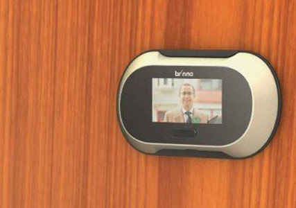 Digital peephole door viewer