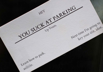 Bad Parking Business Cards Cool Gifts Cool Kaboodle