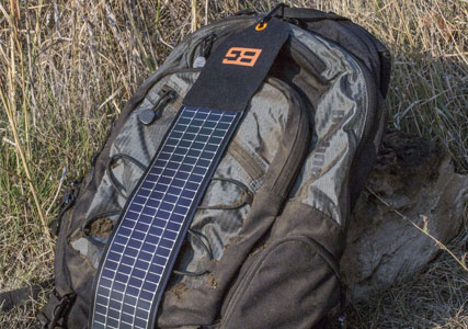 Backpack with solar charger
