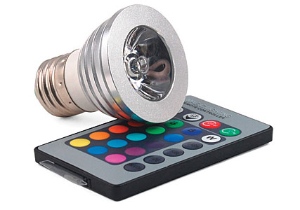 remote control LED light bulb
