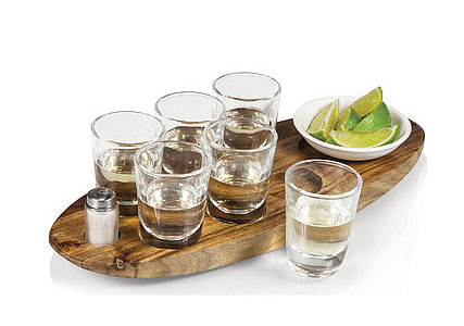 shot glass set with tray