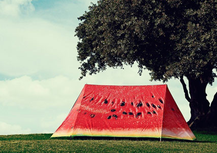 watermelon fruit tent