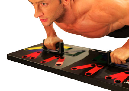 Push up hand placement board